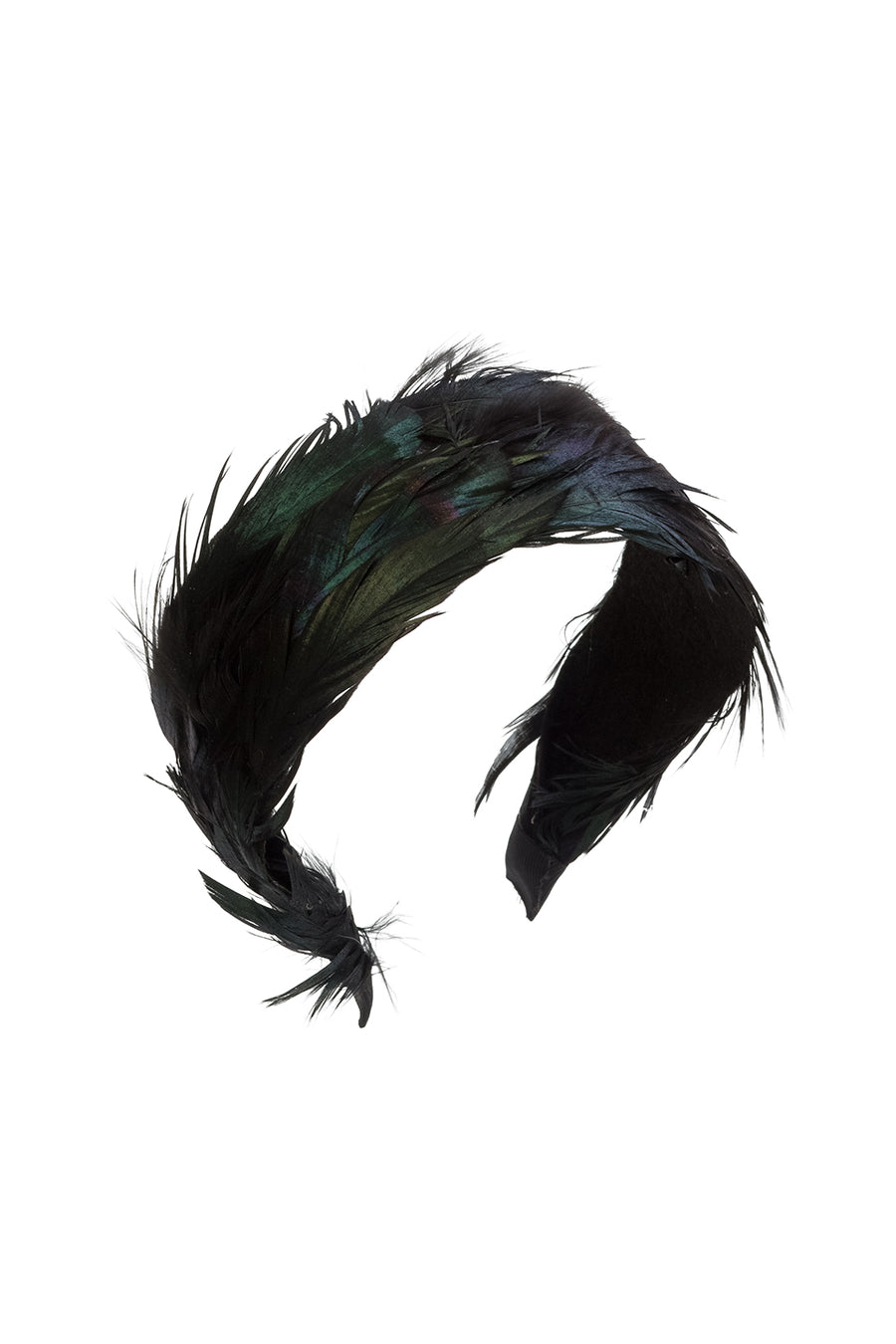Narrow Feather Headband - Black - PROJECT 6, modest fashion