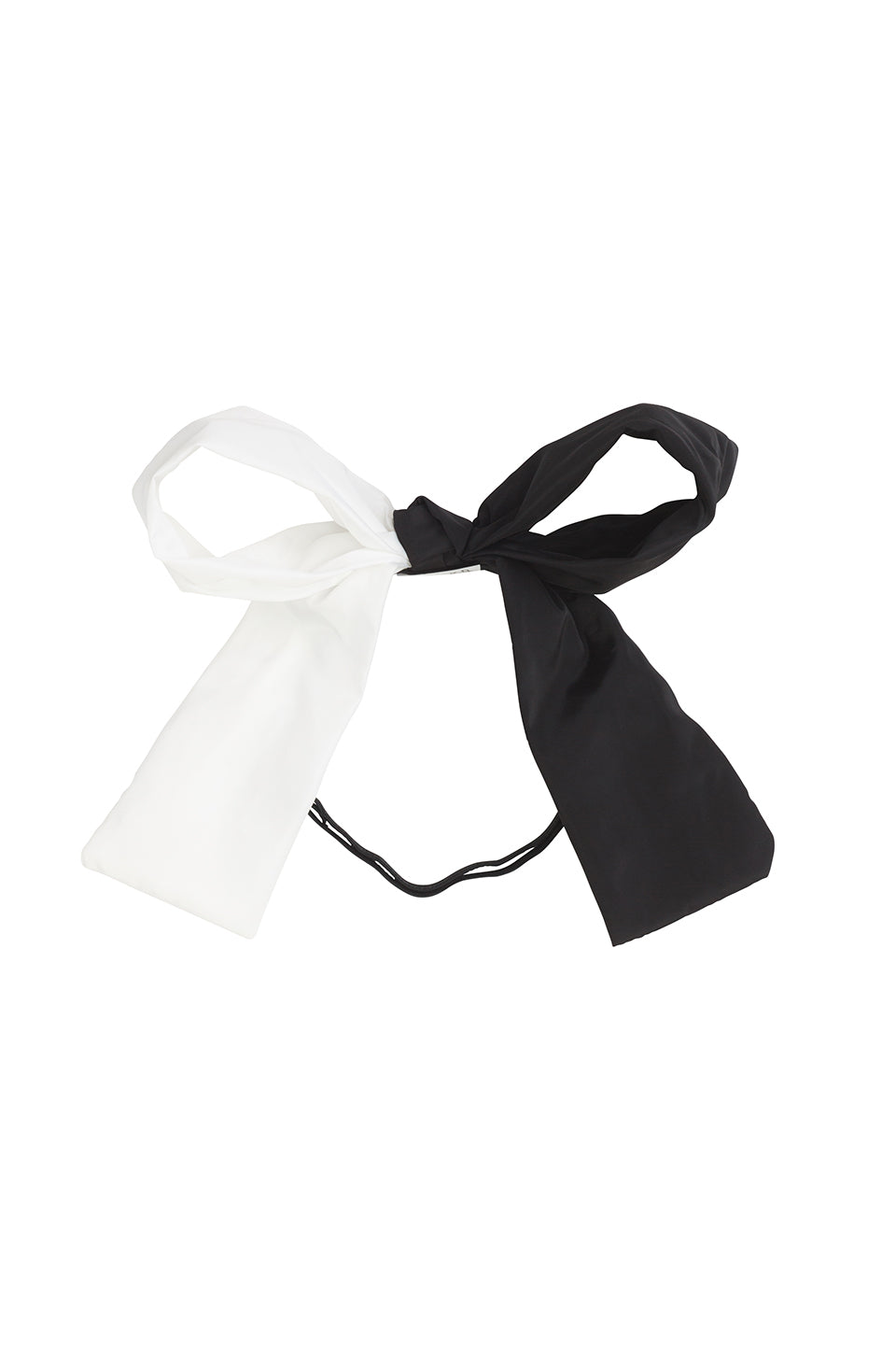 Sia Wrap - White/Black - PROJECT 6, modest fashion