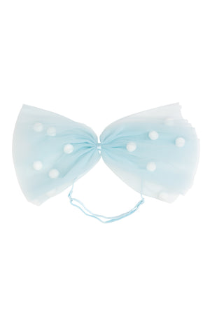 1940's Bow Wrap - Light Blue/White - PROJECT 6, modest fashion