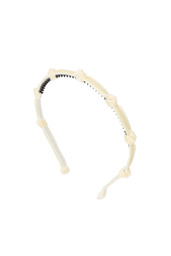 Rosebud Headband - Ivory Velvet - PROJECT 6, modest fashion