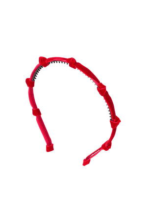 Rosebud Headband - Red Velvet