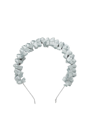 Satin Tied Headband - Light Silver