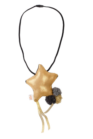 Shooting Star Necklace - Black Star