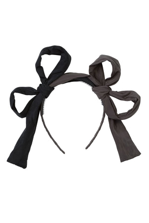 Side By Side Headband - Black/Charcoal