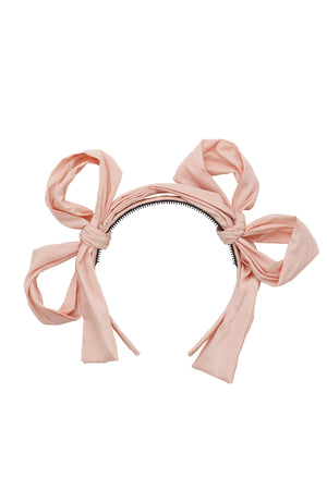 Side By Side Party Bow - Blush
