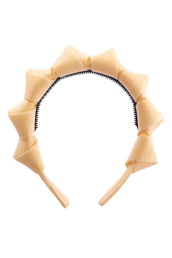 Skater Girl Headband - Cream Yellow - PROJECT 6, modest fashion