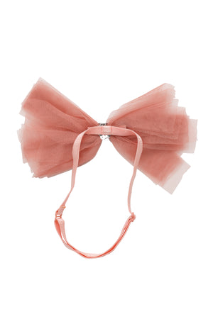 Soft Tulle Strips CLIP + WRAP - Coral