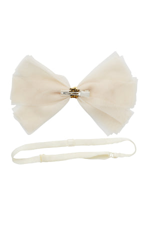 Soft Tulle Strips CLIP + WRAP - Ivory - PROJECT 6, modest fashion