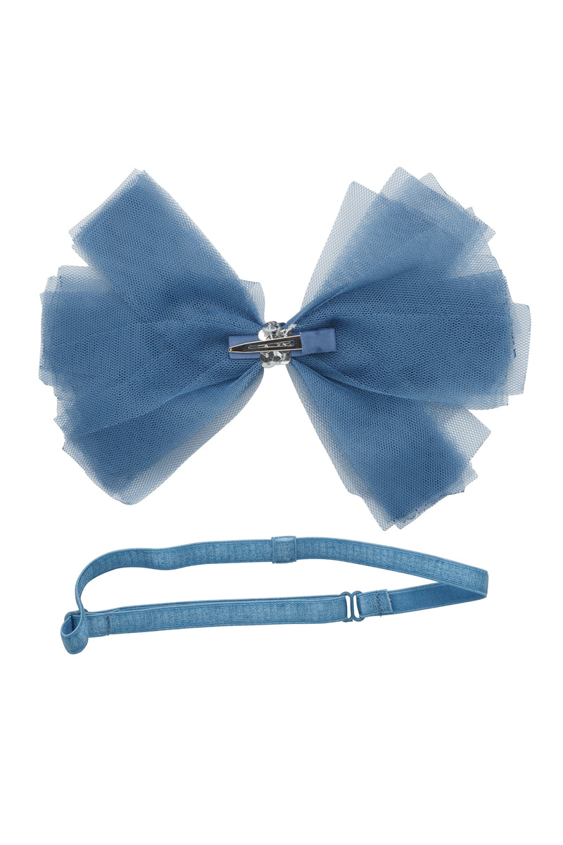 Soft Tulle Strips CLIP + WRAP - Smoke Blue - PROJECT 6, modest fashion
