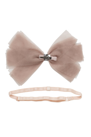 Soft Tulle Strips CLIP + WRAP - Taupe