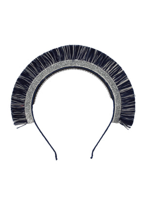 Static Fringe Headband - Navy Fringe/Silver Glitter - PROJECT 6, modest fashion