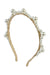 Triple Cluster Pearl Headband - Gold/Ivory - PROJECT 6, modest fashion