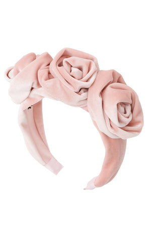 Triple Rose Garden Headband - Light Blush