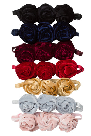 Triple Rose Garden Wrap - Black Velvet
