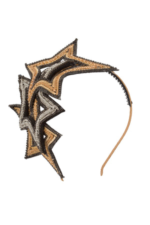 Star Fan Heaband - Rose Gold/Silver - PROJECT 6, modest fashion