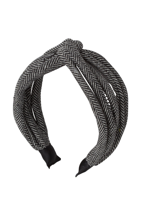 Tubular Herringbone Headband - Black/White - PROJECT 6, modest fashion