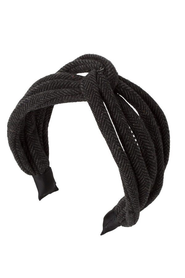 Tubular Herringbone Headband - Charcoal - PROJECT 6, modest fashion