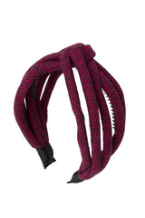 Tubular Herringbone Headband - Hot Pink - PROJECT 6, modest fashion