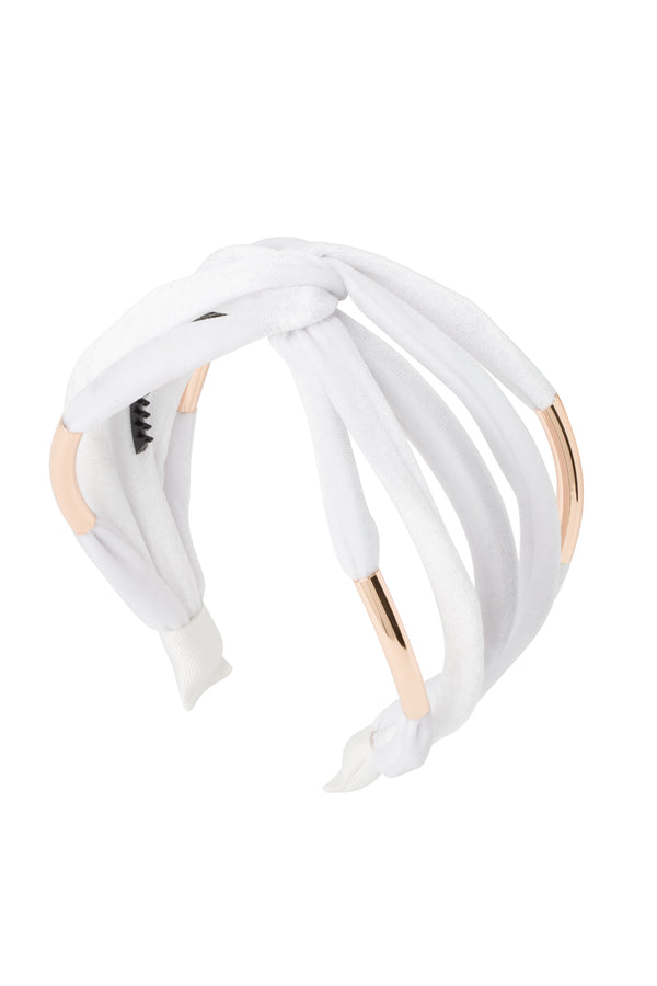 Tubular Headband - White Velvet - PROJECT 6, modest fashion