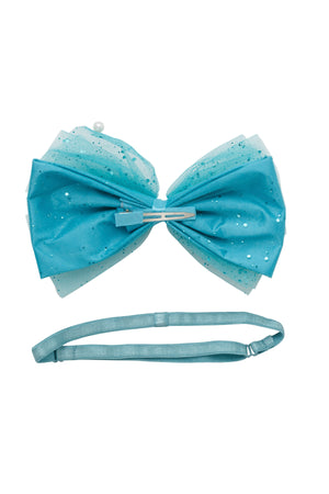 Tulle Pearl Clip/Wrap - Turquoise