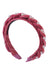 Twisted Pearl Velvet Headband - Raspberry - PROJECT 6, modest fashion