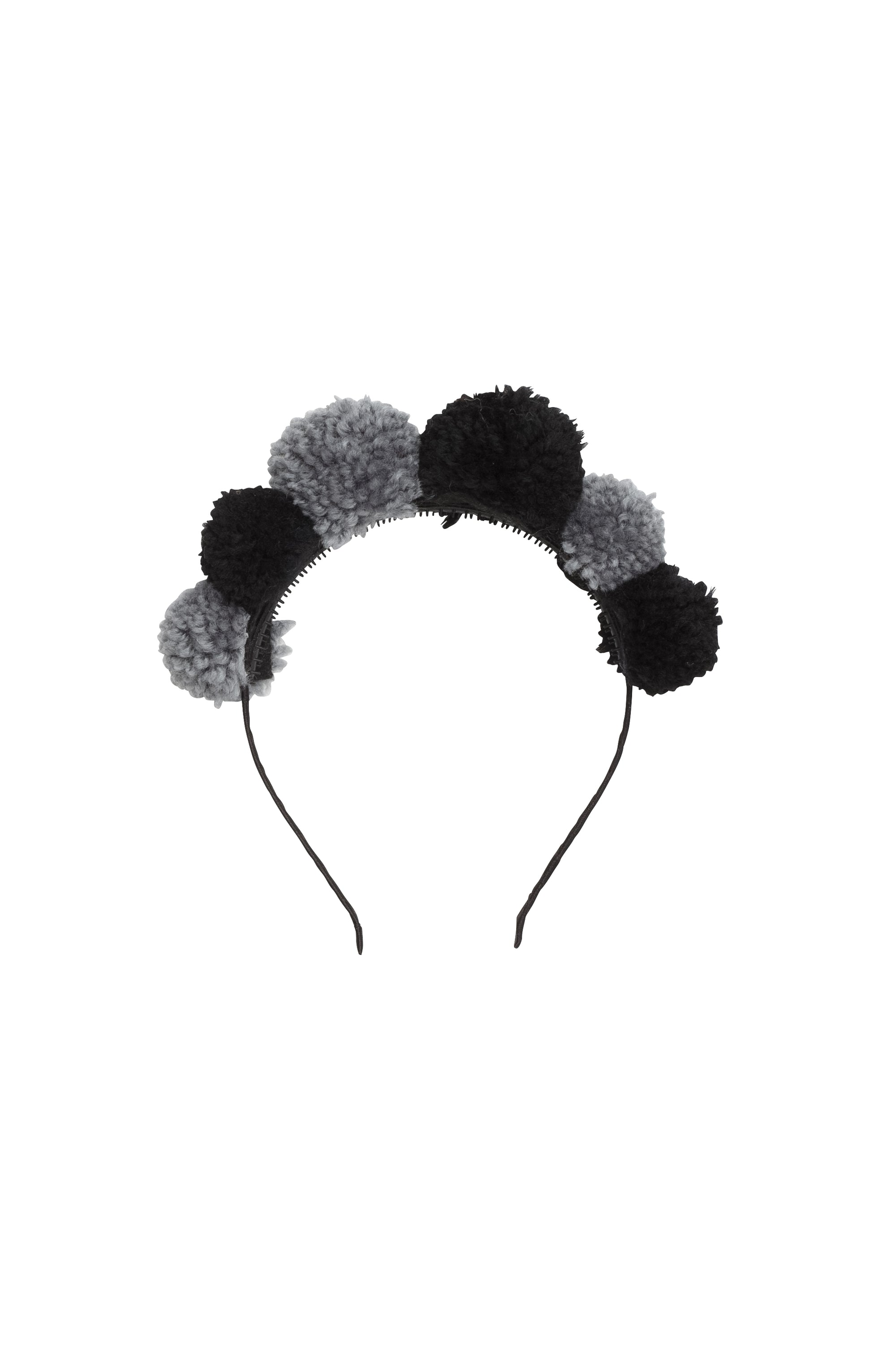 Yarn Pom Pom - Grey/Black - PROJECT 6, modest fashion