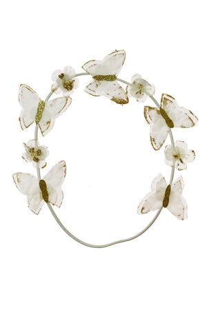 Butterfly Hair Wrap Wreath - White - PROJECT 6, modest fashion
