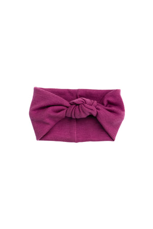 Knot Wrap - Cranberry Wool