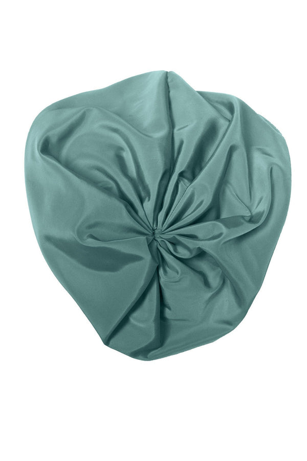 Petit Hat - Turquoise Taffeta - PROJECT 6, modest fashion