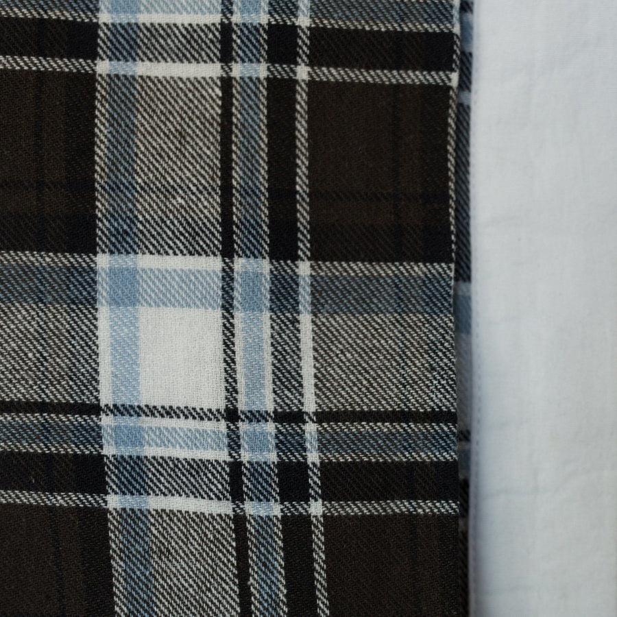 Rika - Brown Plaid/White