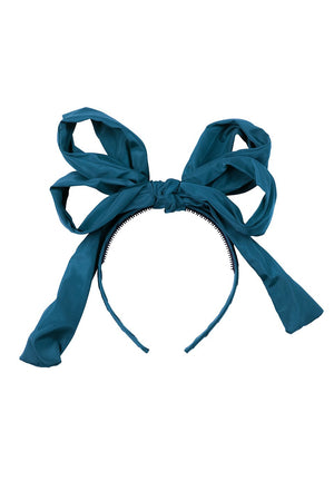 Double Party Bow Headband - Turquoise - PROJECT 6, modest fashion