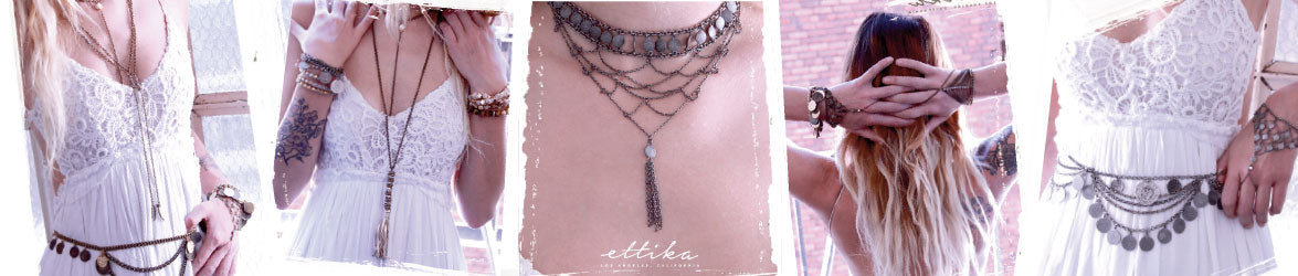 Ettika Handmade bohemian Jewelry wholesale and retail brass and silver ox necklaces