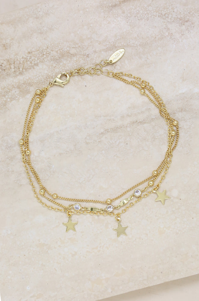 Star Searcher Anklet in Gold