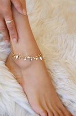 Let's Go Coastal 18k Gold Plated Anklet