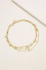 Delicate 18k Gold Plated Chain & Shark Tooth Anklet