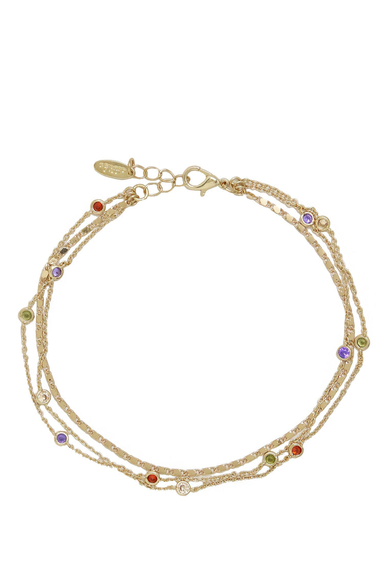 Over the Rainbow Multi-Chain Anklet