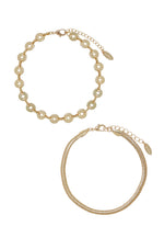 Mixer 18k Gold Plated Anklet Set