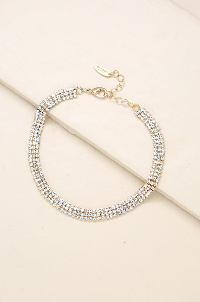 Unexpected Sparkle 18k Gold Plated Anklet
