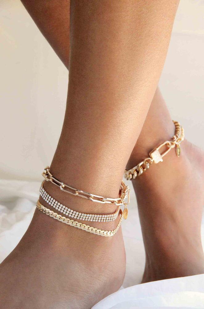 Pearl Pairings 18k Gold Plated Anklet Set