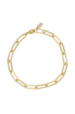 Interlinked 18k Gold Plated Chain Anklet