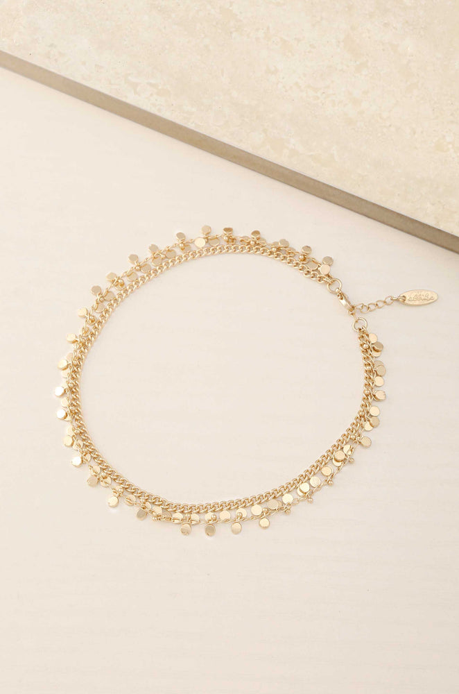 Midnight Dancer 18k Gold Plated Anklet