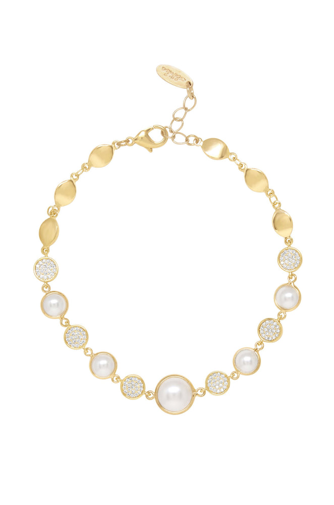 Pearl Globe Trotter 18k Gold Plated Anklet