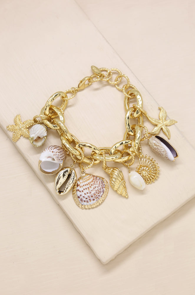 Mermaid Tears Bracelet in Gold