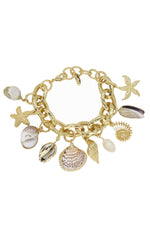 Mermaid Tears 18k Gold Plated Bracelet on white background