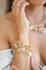 Mermaid Tears 18k Gold Plated Bracelet shown on a model