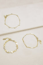 City Lights 18k Gold Plated Bracelet Set