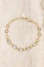 Francine Link Bracelet with Rectangle Crystals