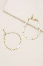 Pretty in Pearls 18k Gold Plated Bracelet Set