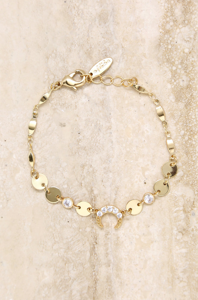 Luck on your Side 18k Gold Plated Crystal Bracelet
