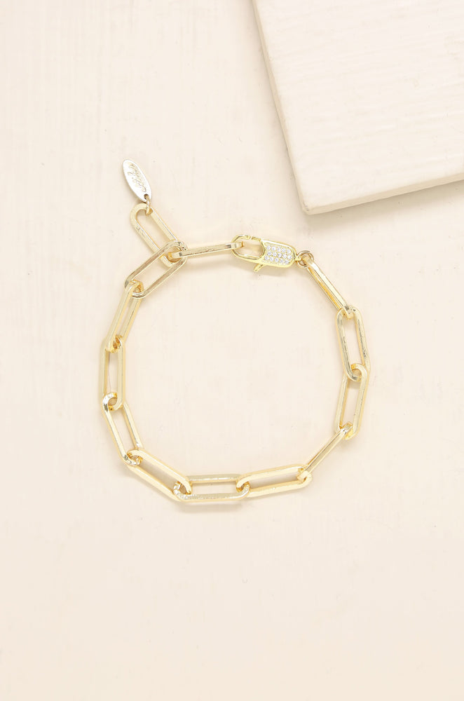 Interlinked 18k Gold Plated Chain Bracelet